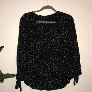 Star print Madewell blouse